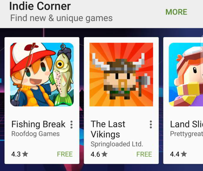 google play games indie corner