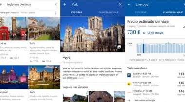 google search destinos android