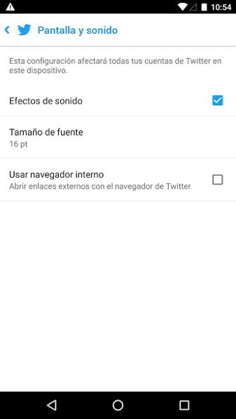 navegador interno twitter android