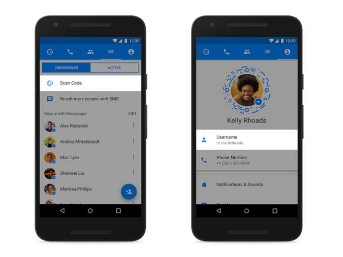 facebook messenger apodos android