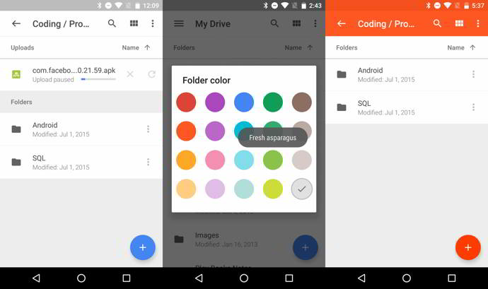 google drive v2.4 android