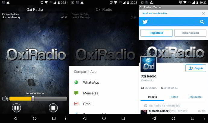 oxi radio android