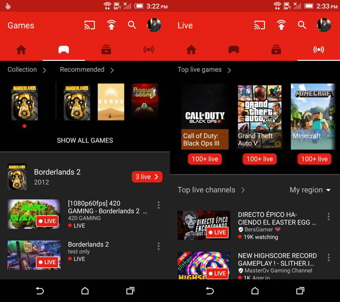 youtube gaming v1.3 android