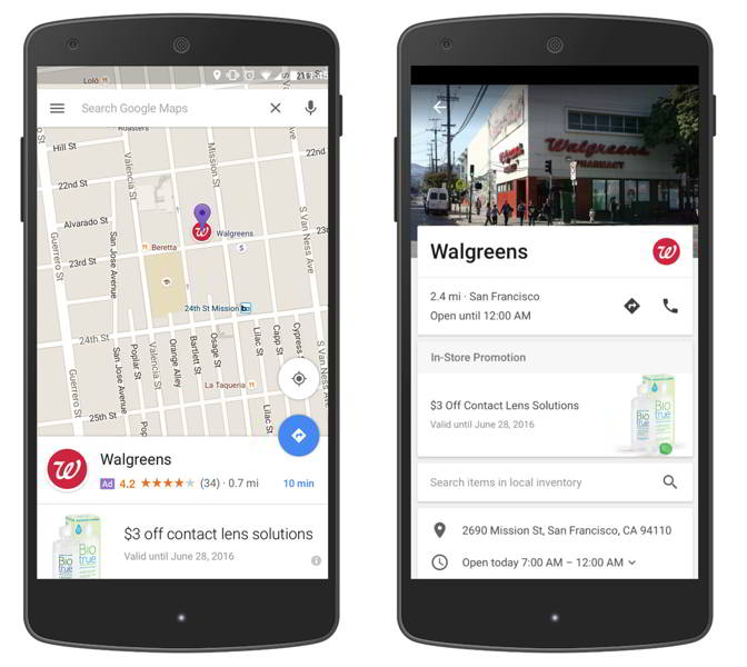 google maps anuncios android