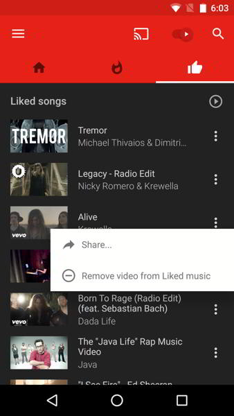 youtube music v1.26 android