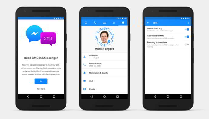 facebook messenger sms android