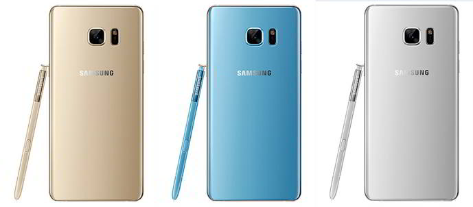galaxy note 7 renders colores
