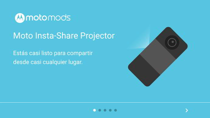moto mods apps proyector android