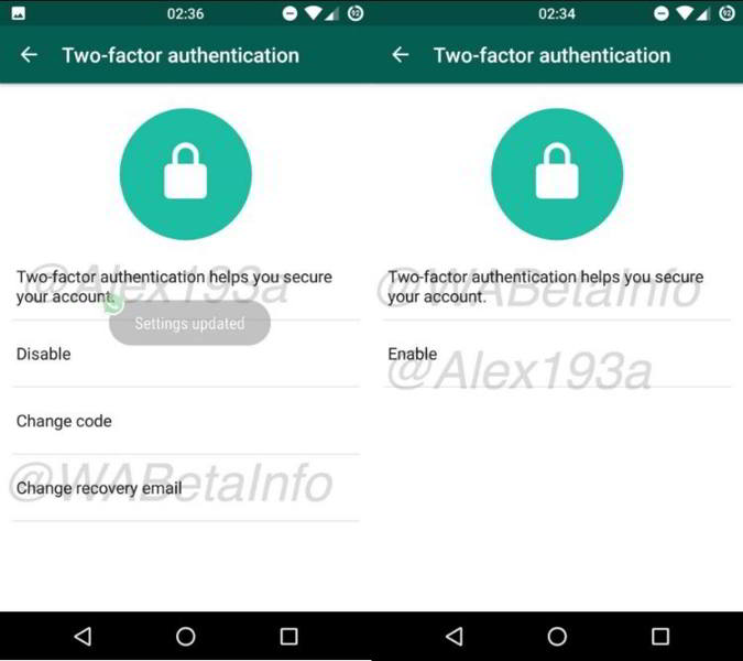 whatsapp beta identificacion android