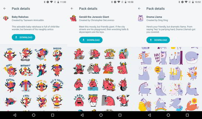 google allo stickers android
