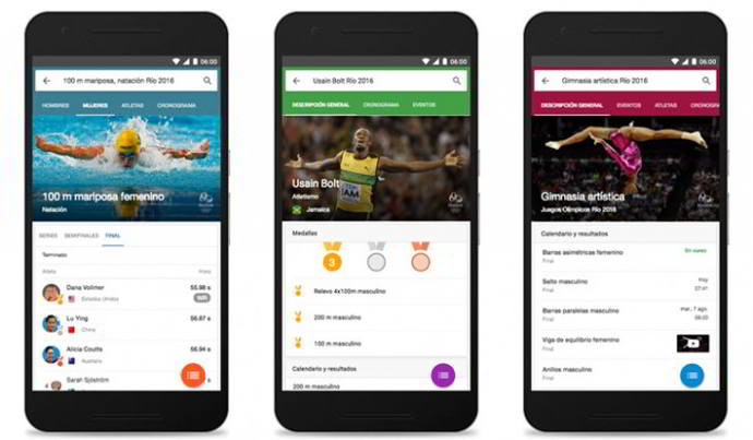 google now juegos olimpicos 2016 android