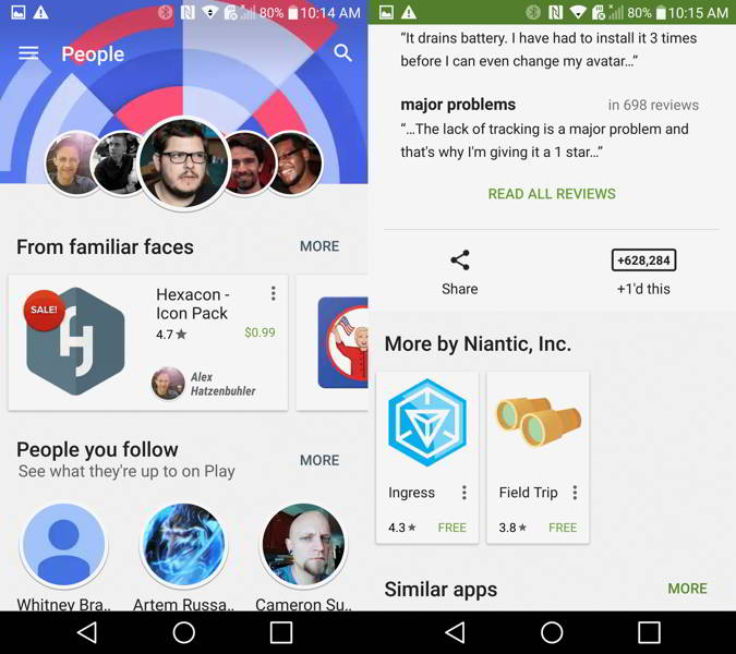 play store personas android