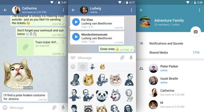 telegram v3.11 android