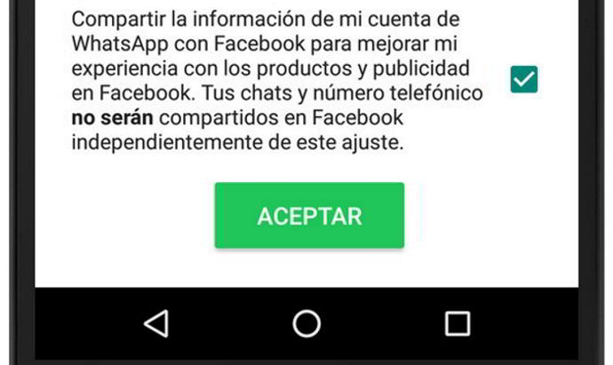 whatsapp android numero facebook