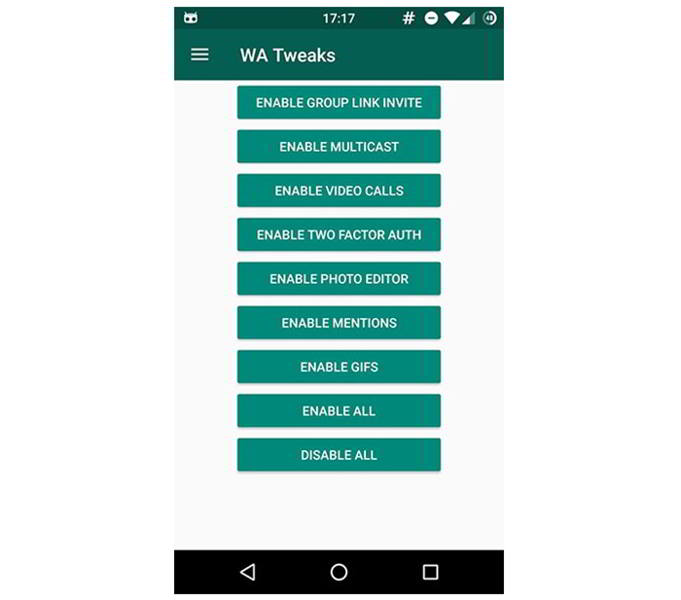 whatsapp android wa tweaks android