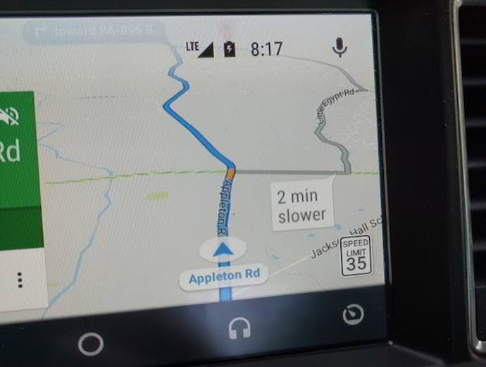 google maps limite velocidad android