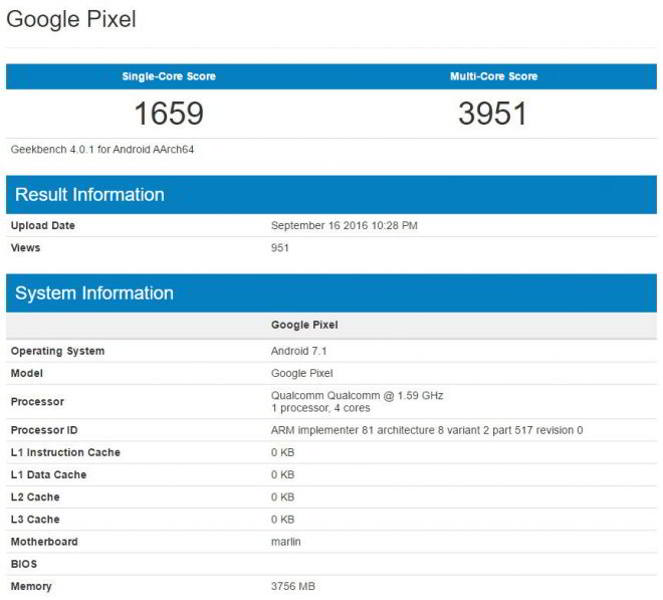 google pixel xl benchmark android
