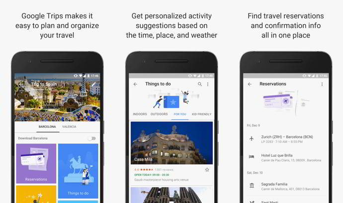 google trips android