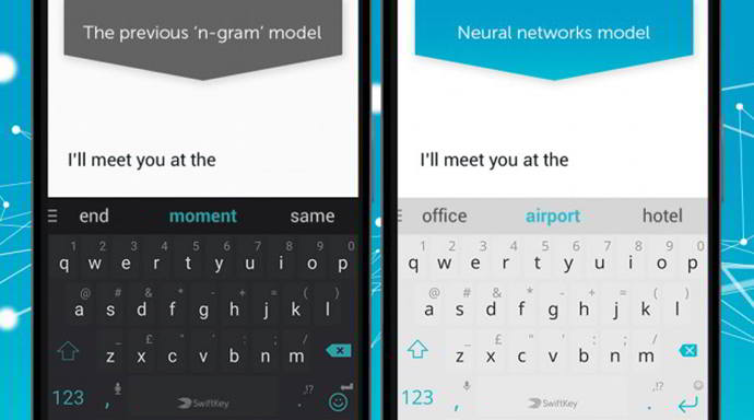 swiftkey redes neurales android