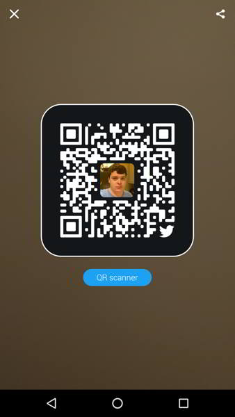 twitter codigos qr android