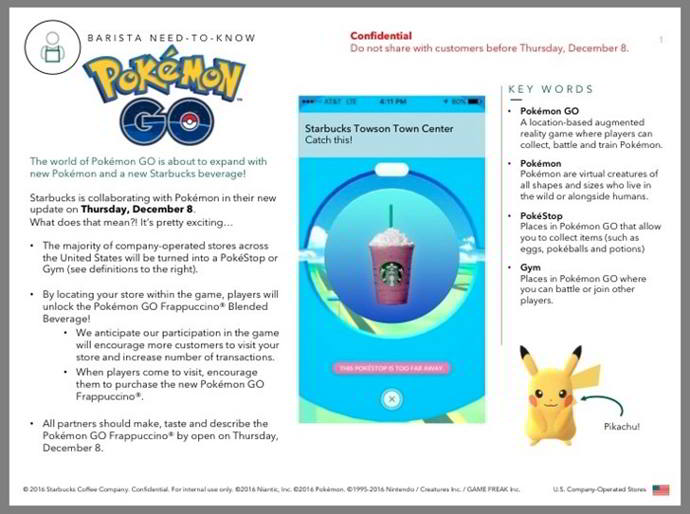 pokemon go starbucks android