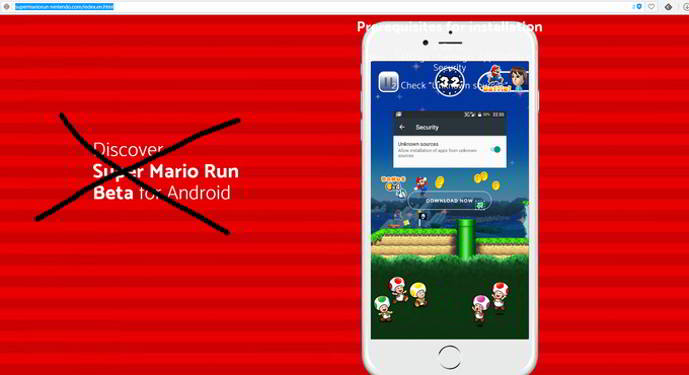 super mario run beta falsa android