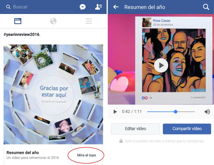 video resumen del año en facebook