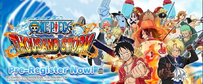 one piece thousand storm registro android