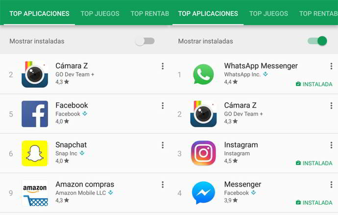 play store apps instaladas android