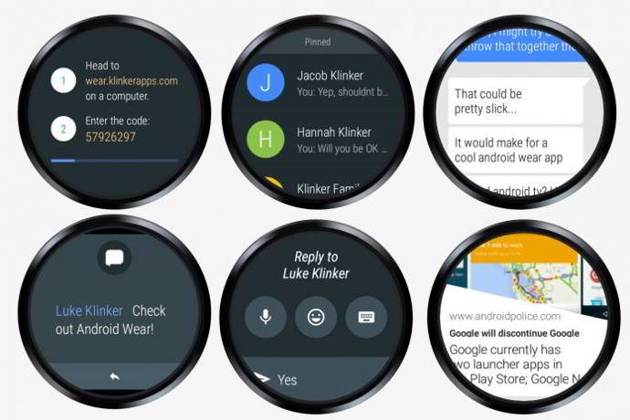 android wear pulse sms