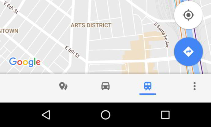 google maps barra inferior android