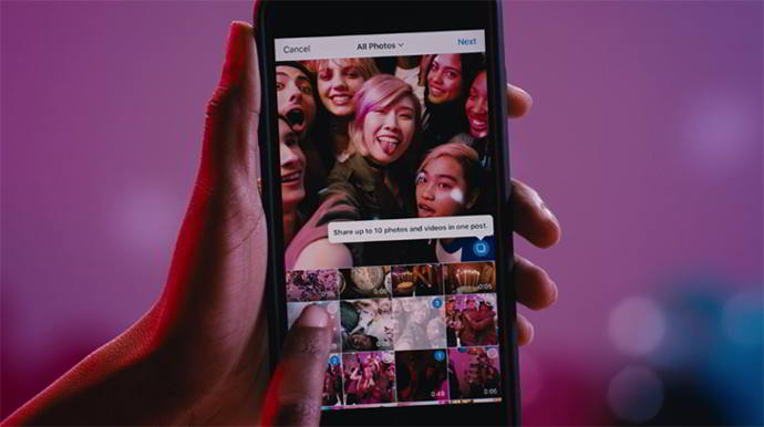 instagram limite posts android