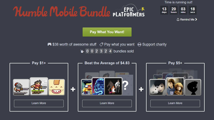 humble mobile bundle plataformers android