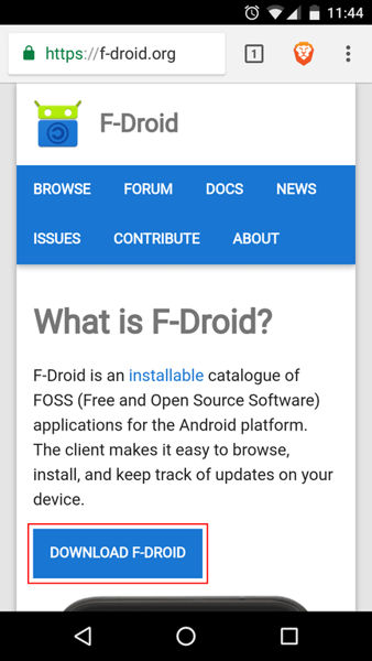 f-droid concepto android