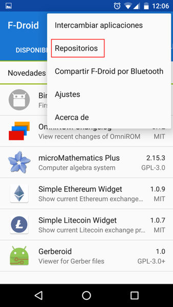 f-droid repositorios android