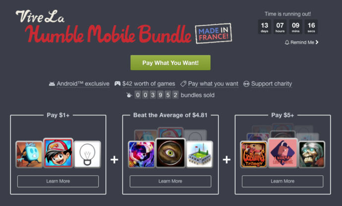 humble mobile bundle francia android