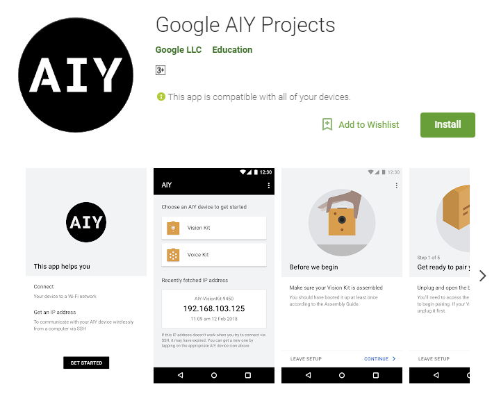 google aiy projects