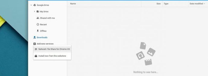 Chrome OS Files Android