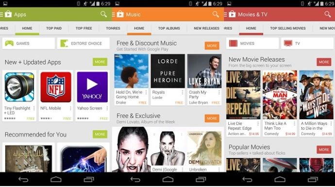 Google Play Store Material Design 2