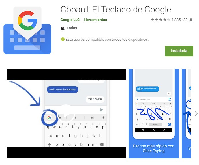 Gboard descargas Android