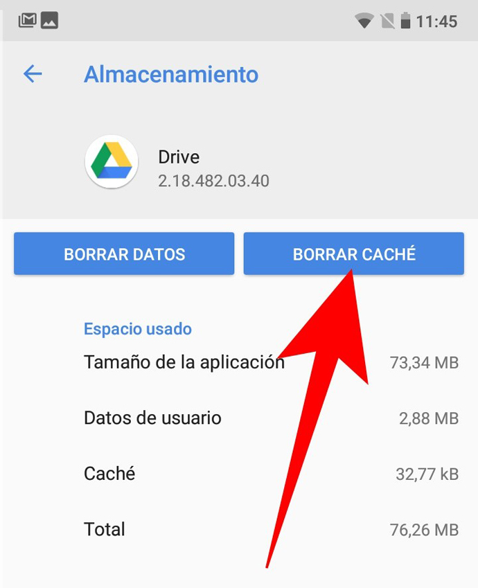 caché Android