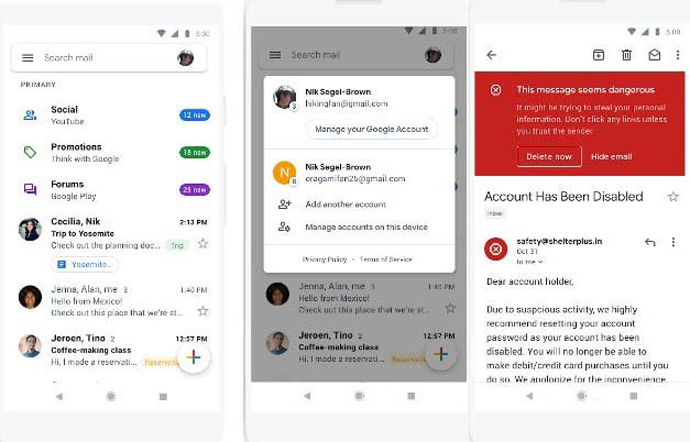 Gmail Android Iconos