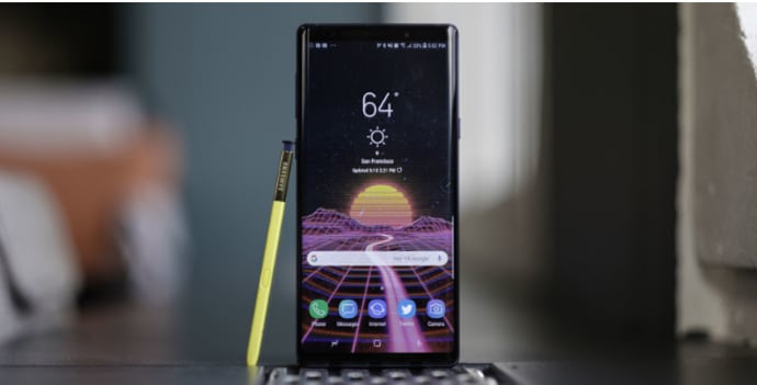 Mejor Smartphone Android Samsung Note 9