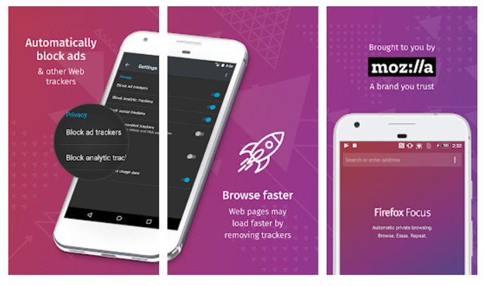 Navegadores Android Firefox Focus
